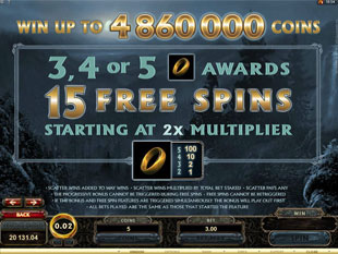 Lord of the Rings Free Spins